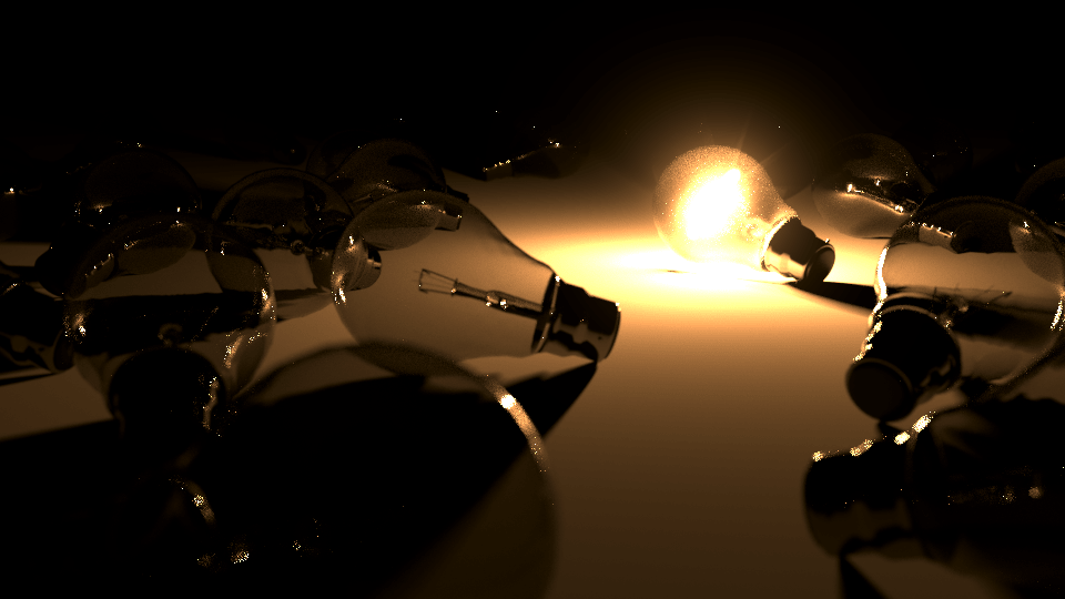 Lightbulb 3D rendering